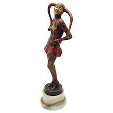 LORENZL 'Pierrette' Cold Painted Vienna Bronze Art Deco