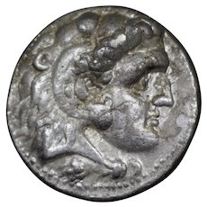 320 B.C. Alexander the Great Ancient Greek Silver Tetradrachm Coin