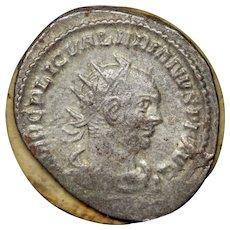 259 AD Ancient Roman Coin, Emperor Valerian I, Silver Antoninianus