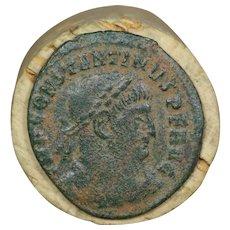 310 AD Ancient Roman Coin, Emperor Constantine, Bronze Follis