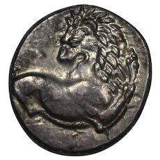 400 B.C. Ancient Greek Thrace Chersonesos AR Silver Hemidrachm Coin