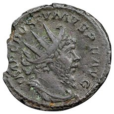 268 A.D. Emperor Postumus Ancient Roman Empire Bronze Antoninianus Coin