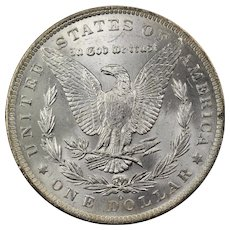 1883 U.S. Morgan Silver Dollar Coin, Mint State Condition, New Orleans Mint