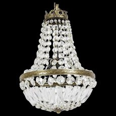Stunning French Crystal Bag Chandelier