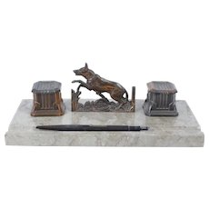 French double inkwell