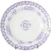 Antique Lavender Transfer ware Plate