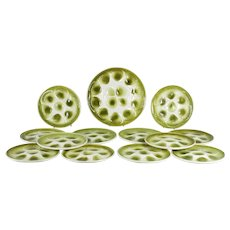 French Oyster Plates and Large Serving Platter