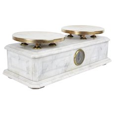 Antique French Marble Boulangerie Scales