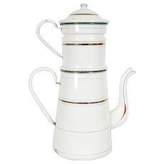 French Enamel Coffee Pot
