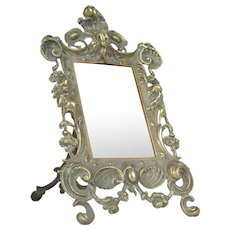 Brass antique French picture frame.