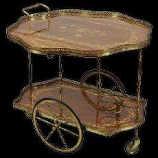 Italian Drop Leaf Bar Cart