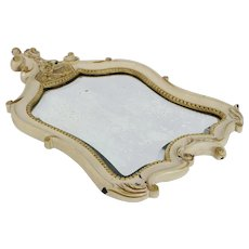 French Antique Carved Acanthus Mirror