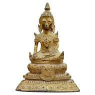 Stunning Gilded Bronze Buddha Statue