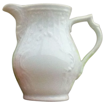 Beautiful White Porcelain Cream Pitcher