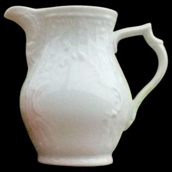 Beautiful White Porcelain Cream Pitcher