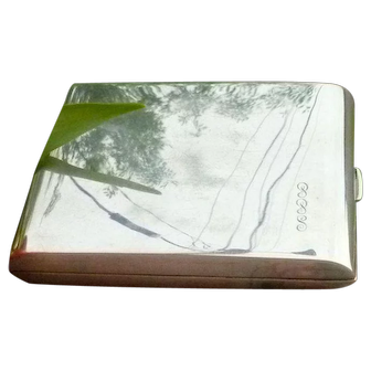 Fabulous Sterling Silver Cigarette Case