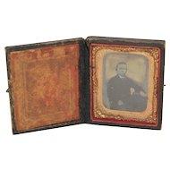 Victorian Era Mid 1800's Daguerreotype Photo in Case
