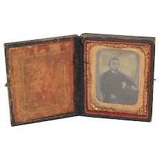 Victorian Era Mid 1800's Daguerreotype Photo in Case
