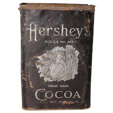Hershey's Tin Can Bean Pod Baby Logo Circa 1906-1911 Edwardian Era