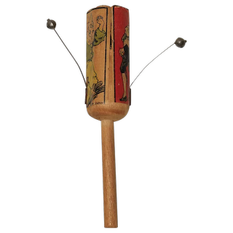 1920's German Noisemaker Wooden Child Toy