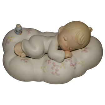 Artist Signed Precious Moments Safe in the Arms of Jesus Figurine