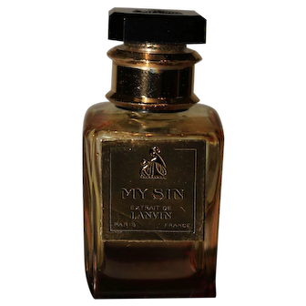 Lanvin My Sin Paris France Mini Perfume Bottle and Box