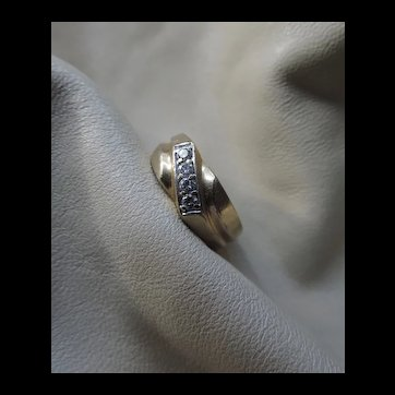 14k Gold Diamond Unisex Ring