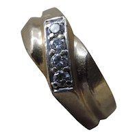 14k Gold Diamond Unisex Ring