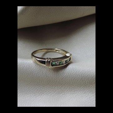 10k Gold Emerald Ring