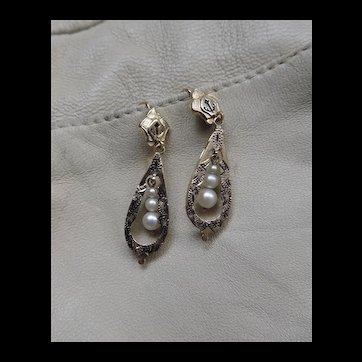 Vintage Fine 14k Gold Drop Earrings