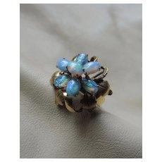 14k Gold Opal Vintage Ring