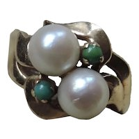 Vintage 14k Gold Pearl Ring