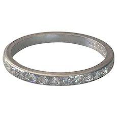 Vintage Platinum Victorian 1/2 Round Eternity Ring