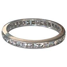 Vintage Platinum .50ct Eternity Ring