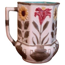 Sun Flower & Lily 6 Sided Wedgwood Pitcher