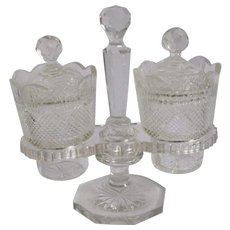 George Duncan Glass Condiment Server