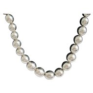 Vintage: Sterling Silver Beaded Necklace