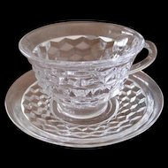 American Fostoria Coffee Cups and Saucers
