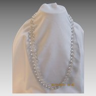 Clear Crystal Beaded Necklace