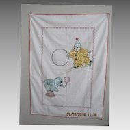 1940's Clown Crib Coverlet