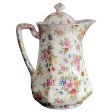 MM - Chintz Flowered Chocolate Pot