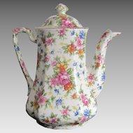 MM-  Chintz Flowered Tea Pot