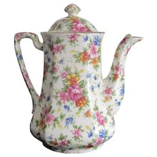 MM-  Chintz Flowered Tea Pot