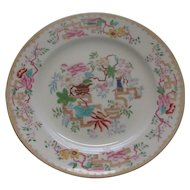 Minton 19th Century Plate: Chinese Tree