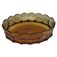 Fostoria: Amber Coin Glass Oval Serving Bowl