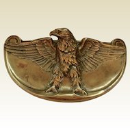 French Bronze Art Nouveau Inkwell with Eagle: FRECOURT