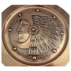 American Indian Arts & Crafts Copper Wall Plate