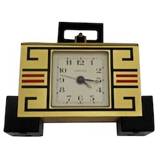 Cartier Brass & Enamel Art Deco Clock: New Old Stock