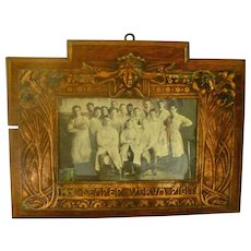 Arts & Crafts Oak and Copper Photograph Frame