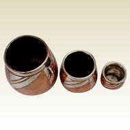 Set of LUC LANEL Art Deco Vases/Pots: Christofle, France